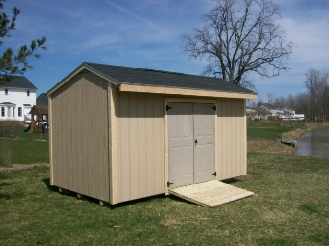 ALSO CALLED A SALT BOX SHED